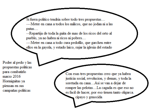 Poder al pedo y propuestas politicas
